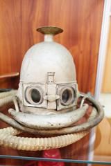 Closeup old breathing apparatus mask Koenig