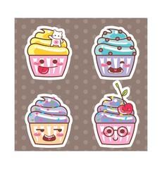Desenho Cupcake kawaii adesivo 14