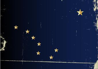 Grunge Flag of Alaska