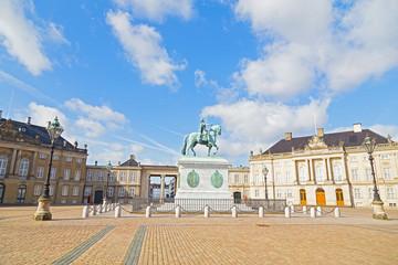 Square in front of Amalienborg Palace, Copenhagen, Denmark
