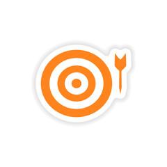 icon sticker realistic design on paper darts
