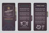 Restaurant menu design.