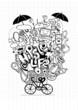Hipster doodle icons set. Vector illustration