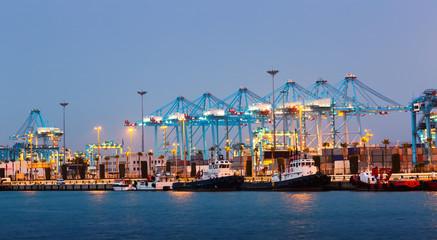Port with cranes. Algeciras