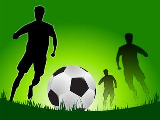 soccer game in black outline style, vector