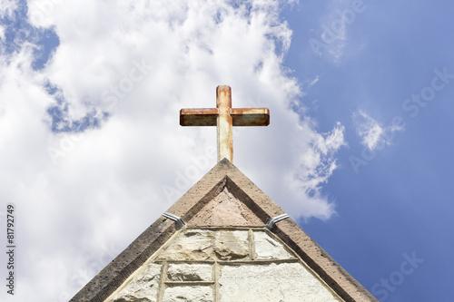 Foto op Plexiglas Bedehuis Old Church Steeple