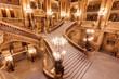 Leinwanddruck Bild - Escalier de l'Opéra Garnier