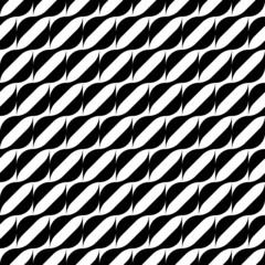 Black and white geometric seamless pattern with wavy stripe line