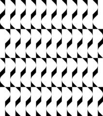 Black and white geometric seamless pattern wavy style.