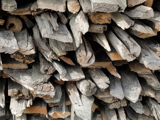 Weathered firewood background