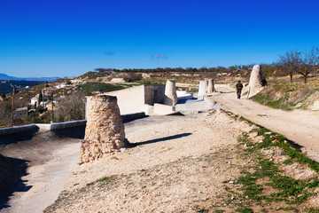 Chimneys of dwelling caves.  Andalusia