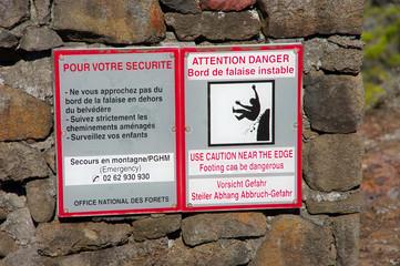 La Réunion - Danger chute