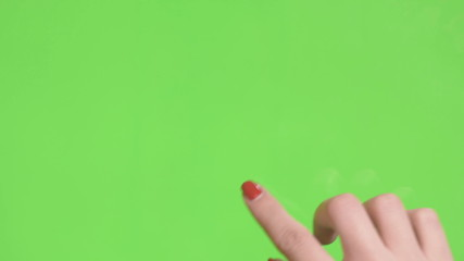 green screen control of the touch screen hands