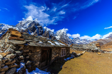 Beautiful mountain scenery in Himalaya