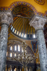 The Interior of the Upper Gallery in Hagia Sophia. Istanbul