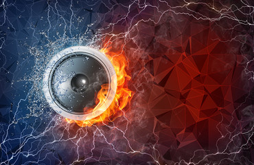 Speaker in fire and water