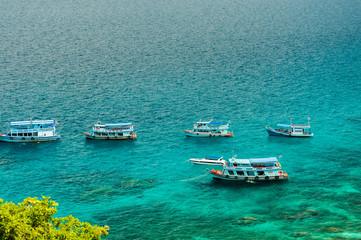 Fishing boat docking at Nang Yuan island