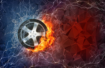 Wheel in fire and water
