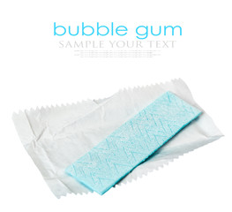 bubble gum is on the white background