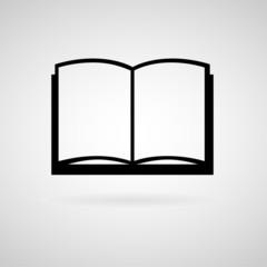 Book icon, Vector illustration