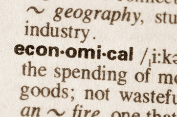 Dictionary definition of word economical