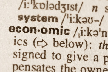 Dictionary definition of word economic