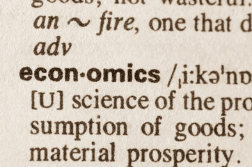Dictionary definition of word economics
