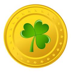 Shamrock Yellow Coin