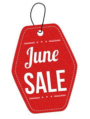 June sale label or price tag