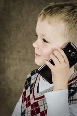 boy talking on the smartphone