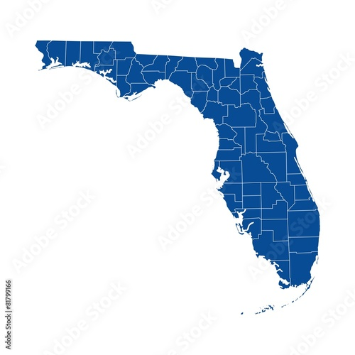 Florida state - mapa powiatu