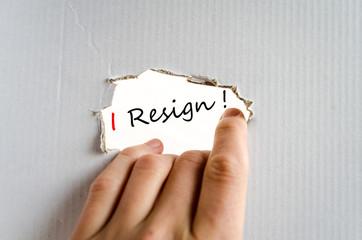 I Resign Concept