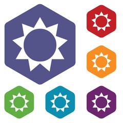 Sun rhombus icons