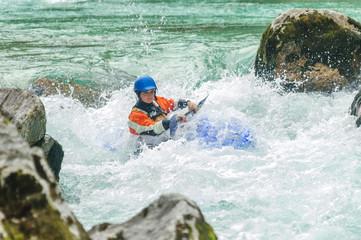 Expertin im Wildwasser