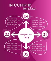 Inforaphic template pink