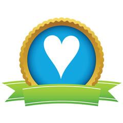 Gold heart card logo