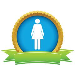 Gold woman logo