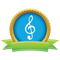 Gold music logo