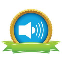 Gold add sound logo