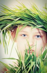 child in the grass