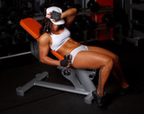 Awesome female in a gym