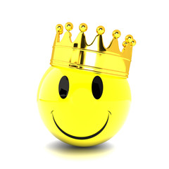 Smiley with crown