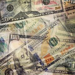 Money abstract background. USD dollar bills