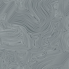 Seamless grey background made of abstract curved lines