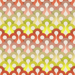 Seamless abstract colorful background made of retro pattern