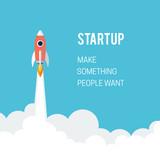 Flat designt business startup launch concept. - 81802504