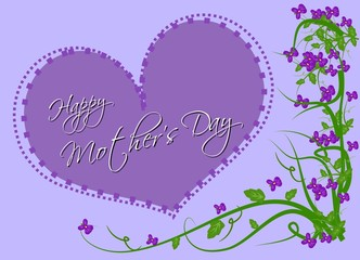 Happy Mother's Day with violets