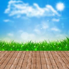 Wood Floor Spring  Background