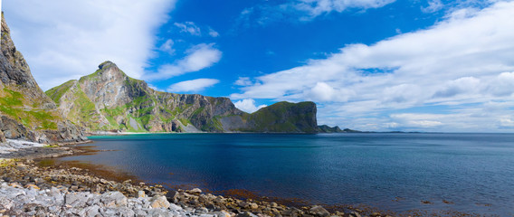 Scenic beach on Lofoten islands