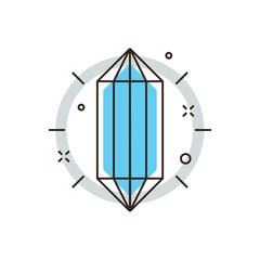 Core of idea flat line icon concept